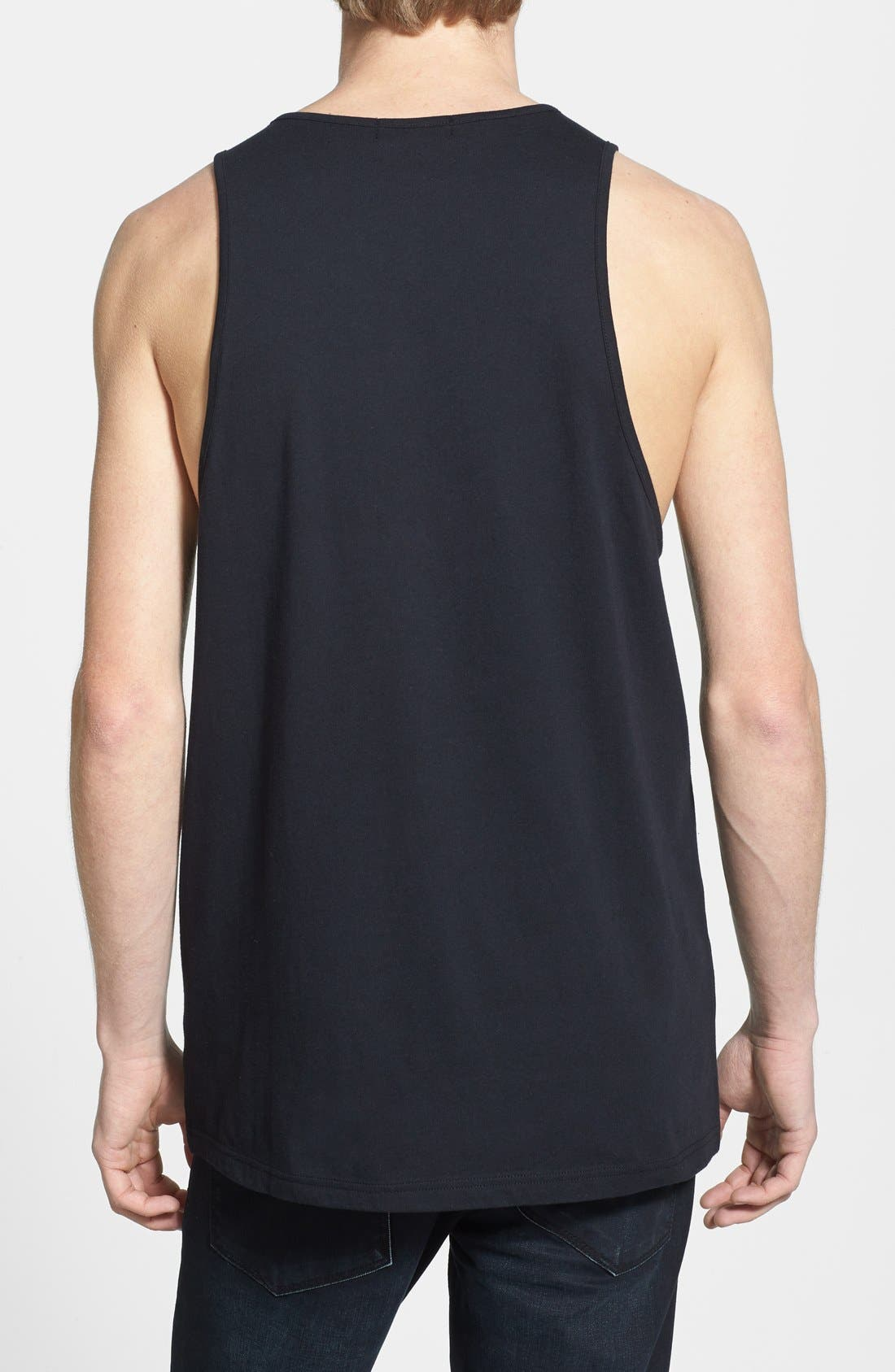 Alternate Image 2  - Topman Croc Embossed Faux Leather Panel Tank Top