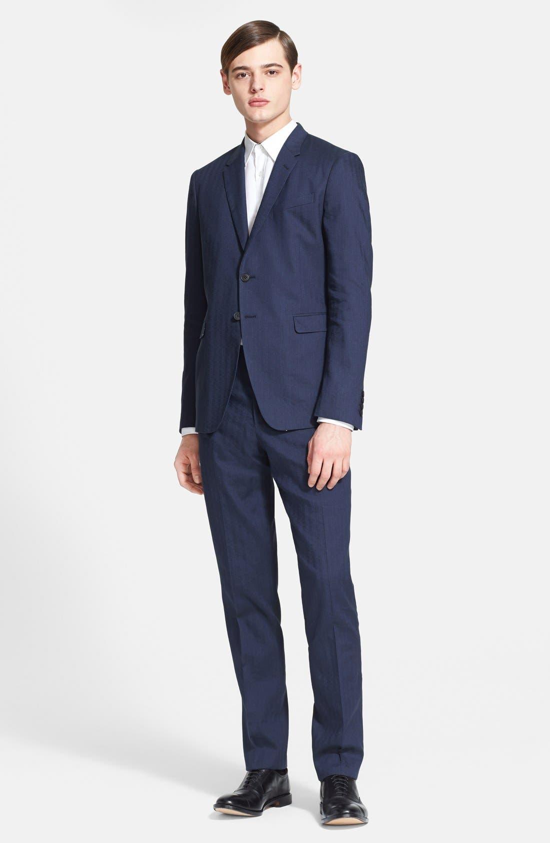 Main Image - Paul Smith London 'Kensington' Dot Check Linen Blend Suit