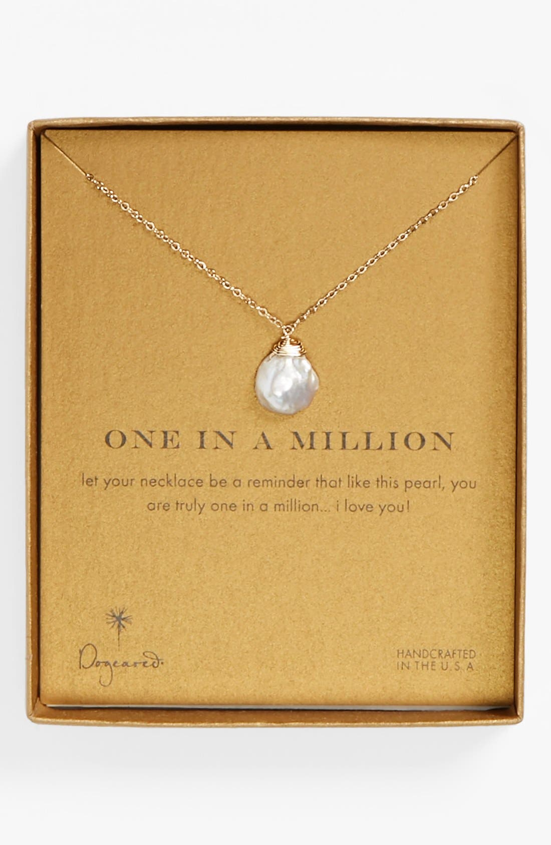 Alternate Image 3  - Dogeared 'One in a Million' Keshi Pearl Necklace