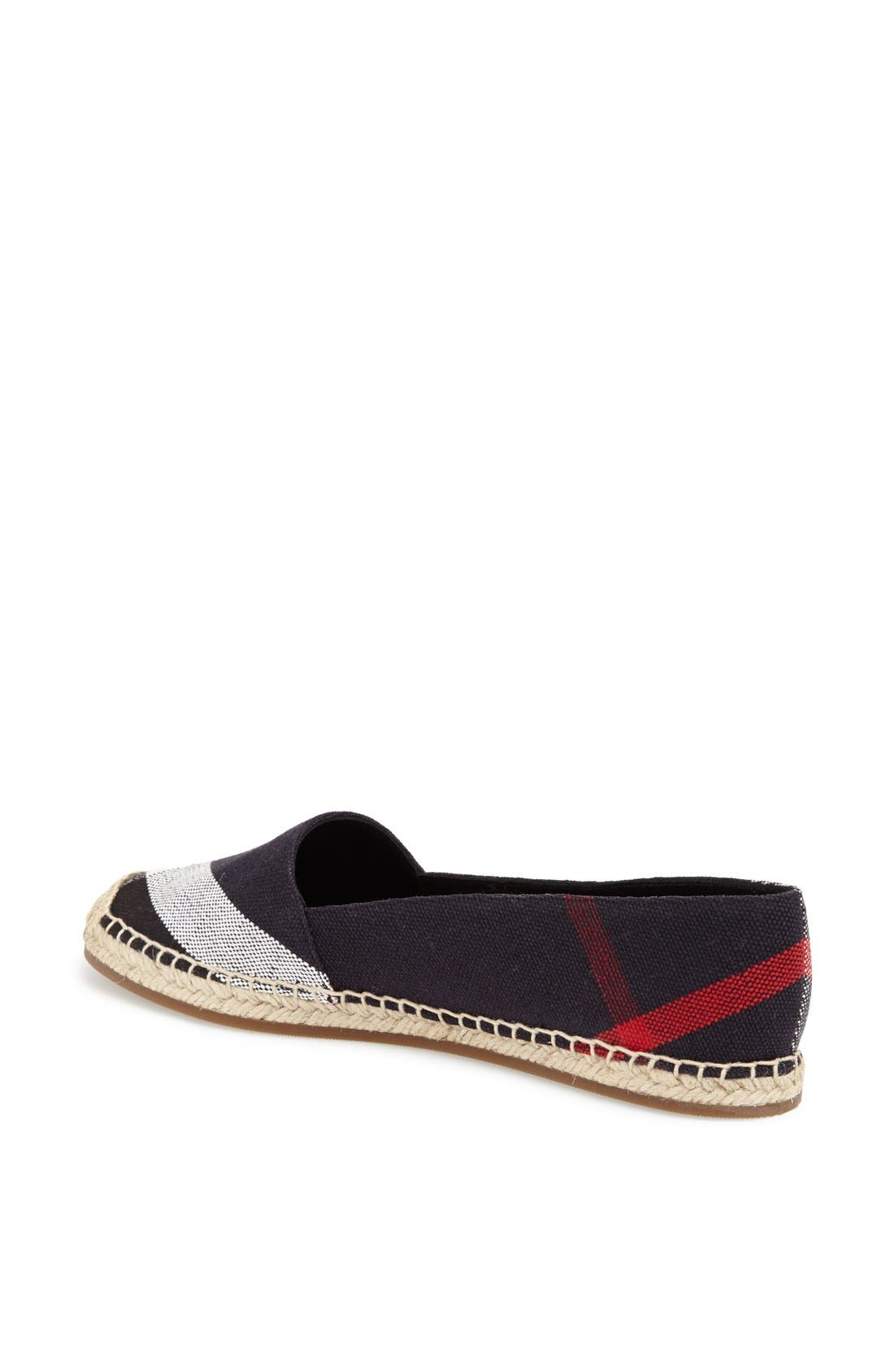 Alternate Image 2  - Burberry Hodgeson Check Print Espadrille Flat (Women)