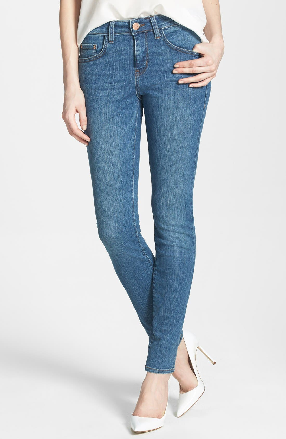Main Image - !iT Collective 'Lauren' Stretch Skinny Jeans (Solstice)