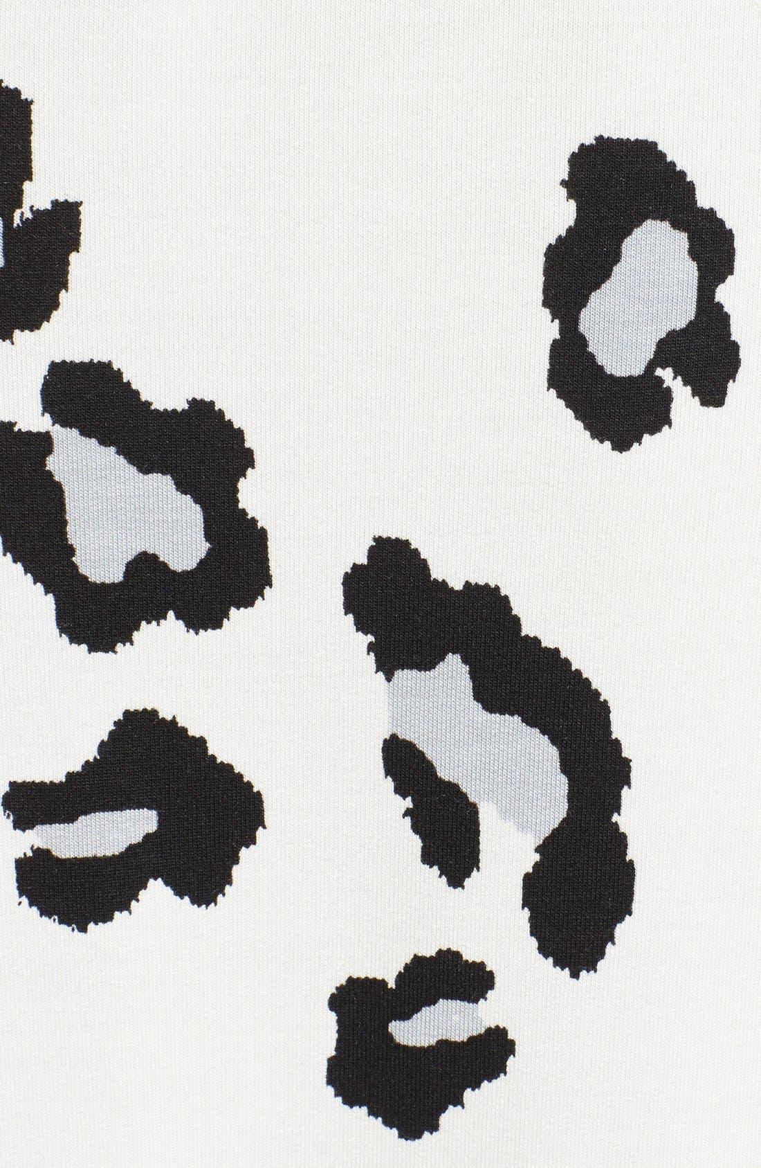 Animal Print Sweatshirt,                             Alternate thumbnail 3, color,                             Eggshell Combo
