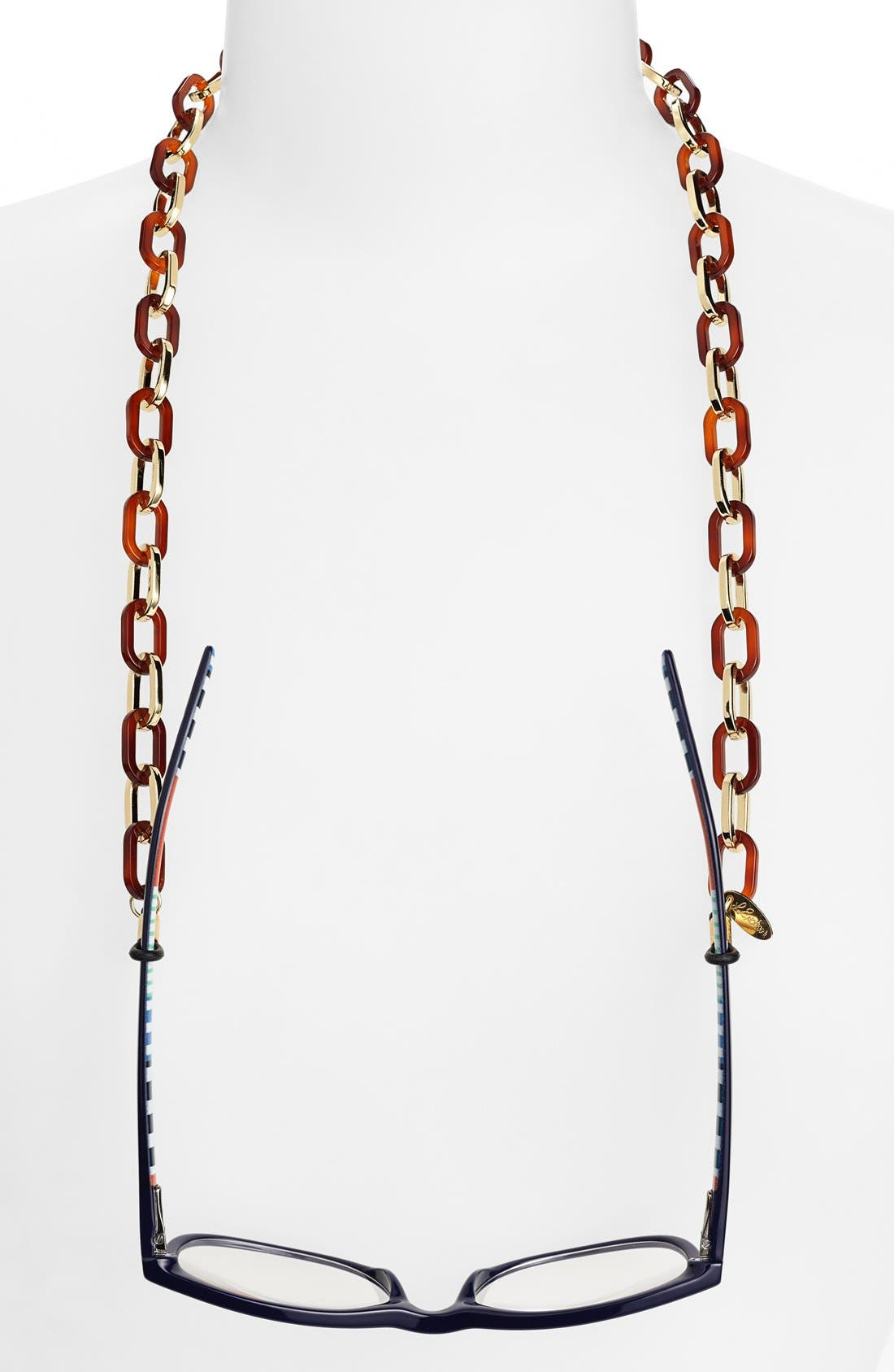 'Sarafine' Metal Link Eyewear Chain,                         Main,                         color, Tortoise