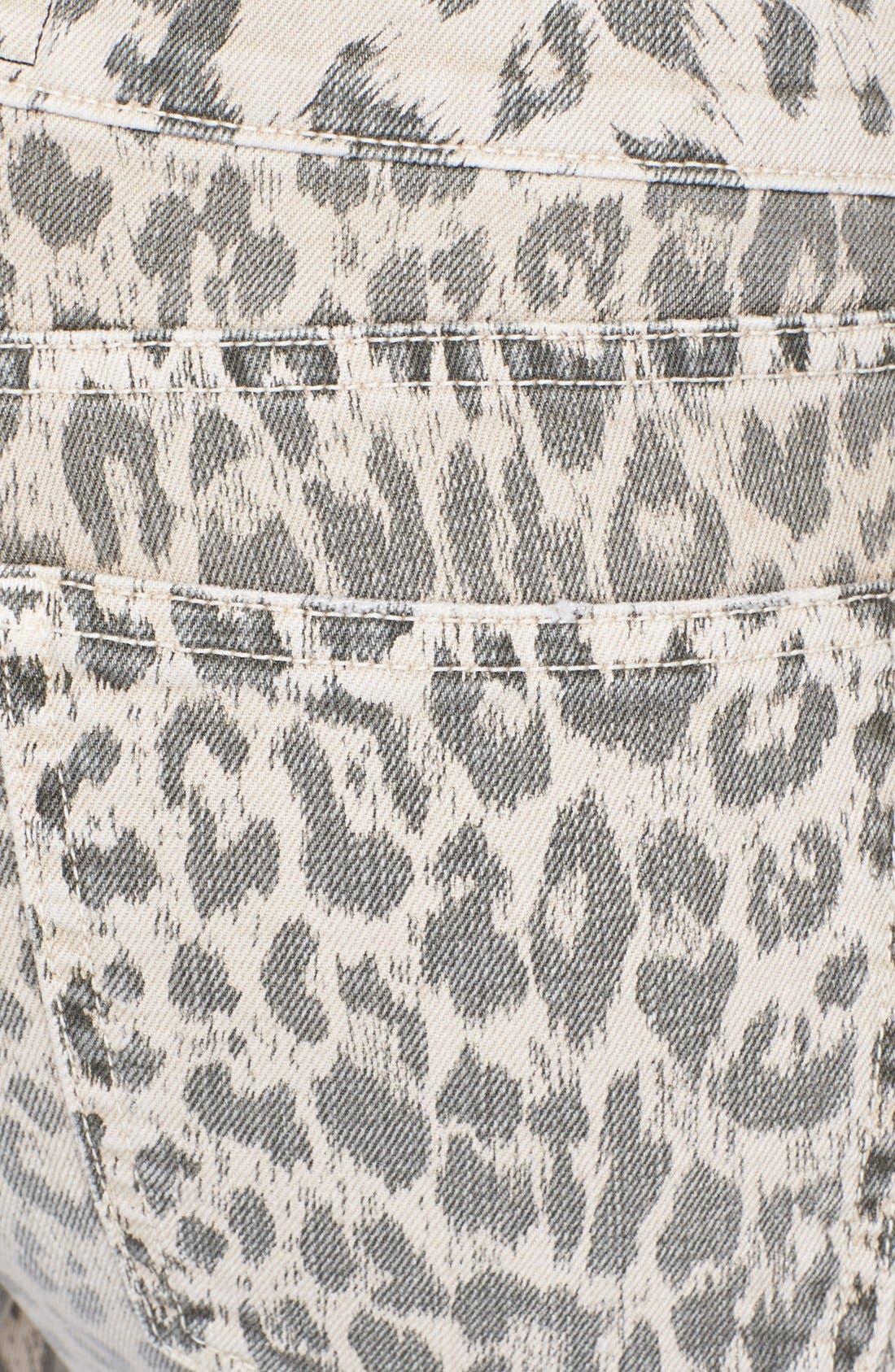 Alternate Image 3  - Current/Elliott 'The Soho' Leopard Print Zip Skinny Jeans (Stone Leopard)