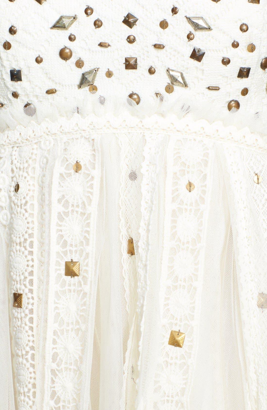 Alternate Image 3  - Free People Stud Lace Trim Midi Dress
