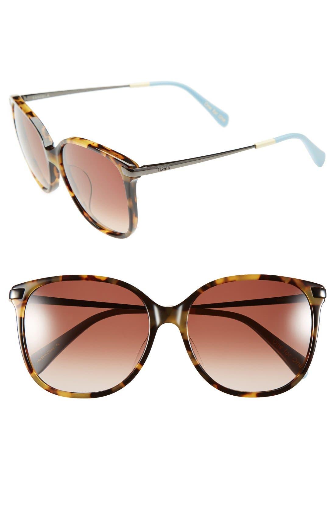 Main Image - TOMS 'Sandela' 56mm Sunglasses