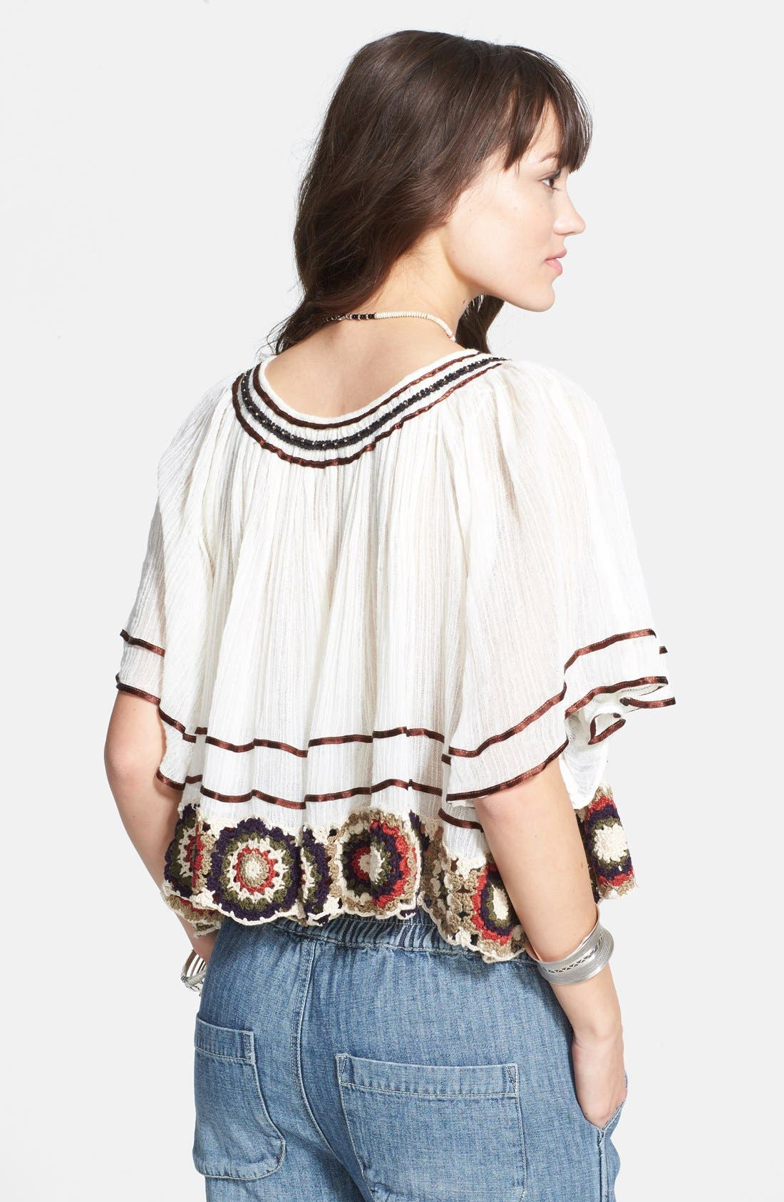 Alternate Image 2  - Free People 'The Way She Moves' Crocheted Cotton Top