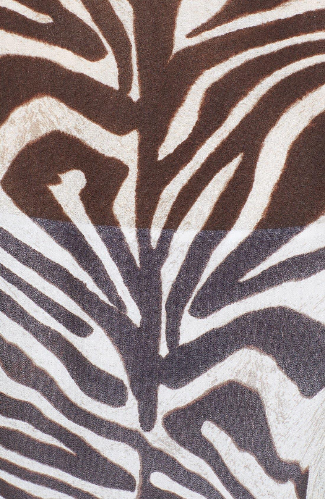 Alternate Image 3  - MICHAEL Michael Kors Print Long Sleeve Fitted Blouse
