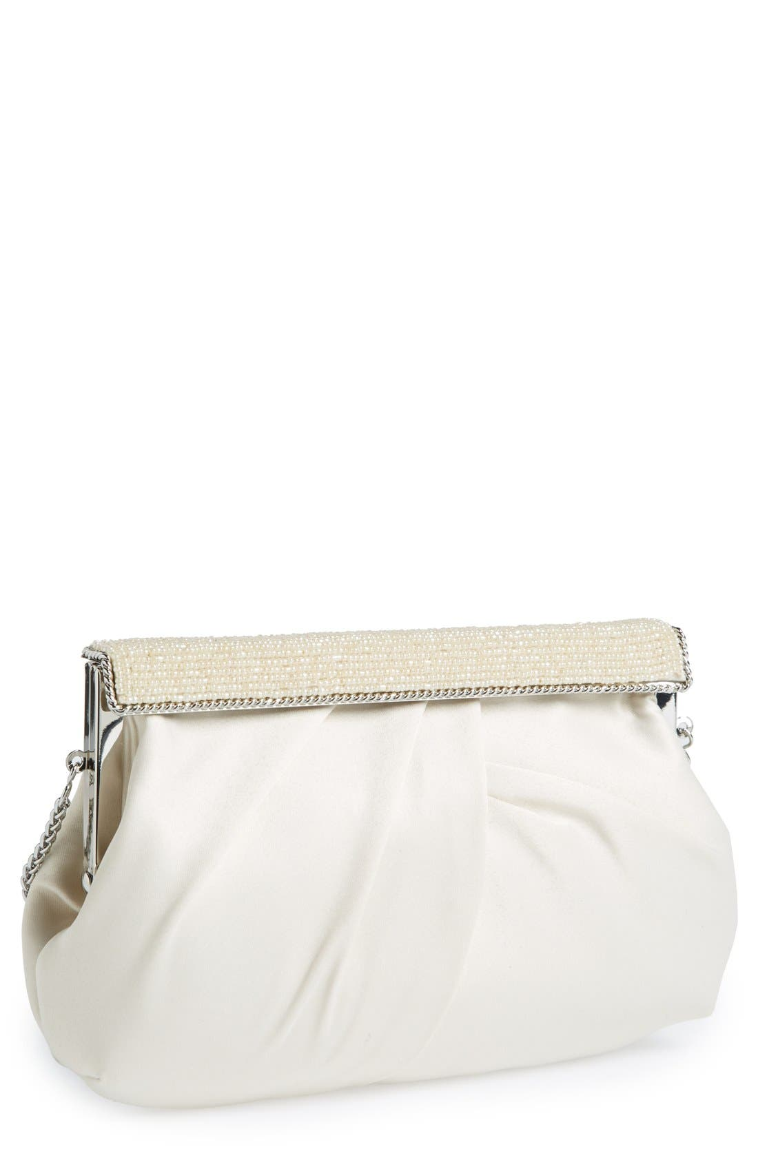Alternate Image 1 Selected - Nina 'Lendy' Satin Frame Clutch
