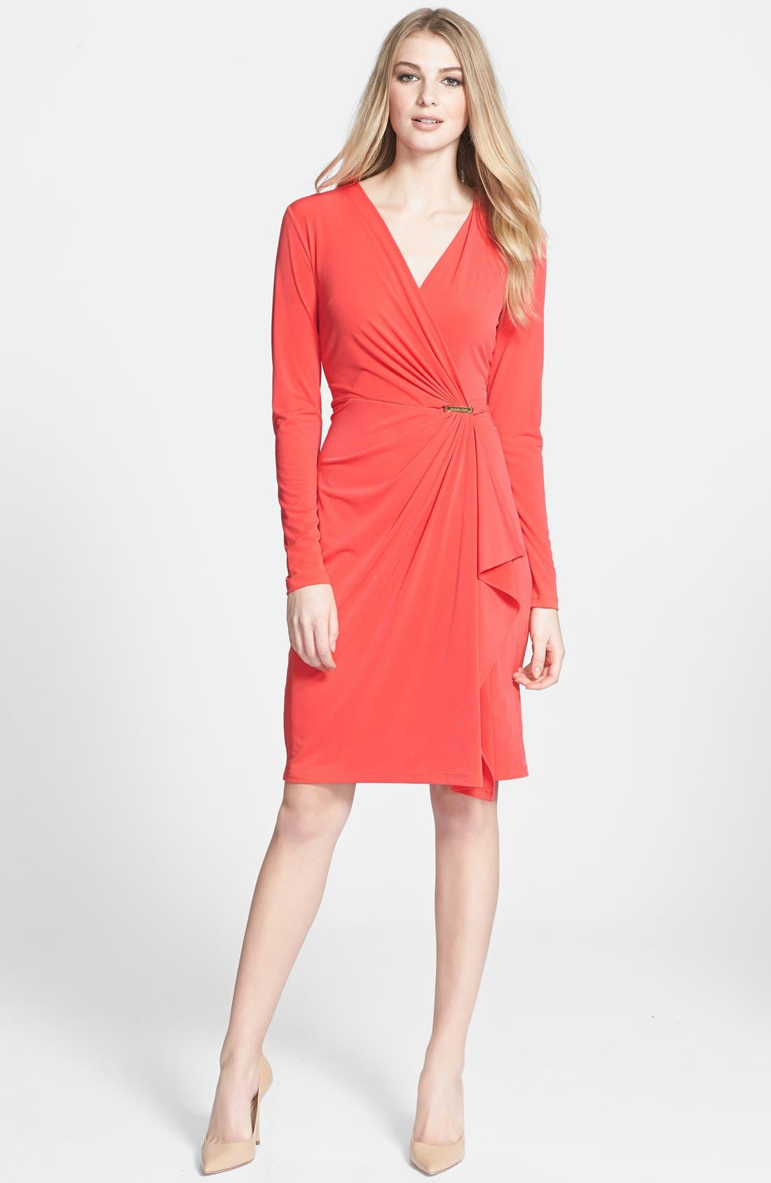 Main Image - MICHAEL Michael Kors Faux Wrap Dress