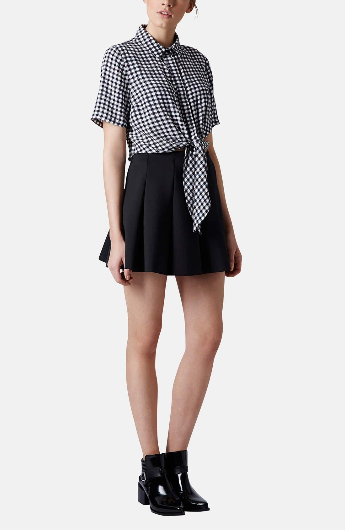 Alternate Image 5  - Topshop Pleat Scuba Skirt (Petite)