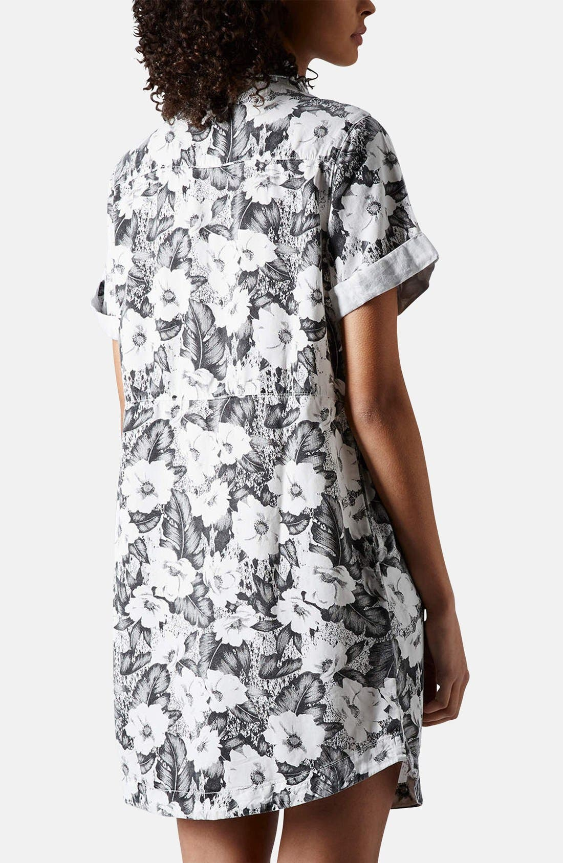 Alternate Image 2  - Topshop 'Aloha' Print Shirt Dress