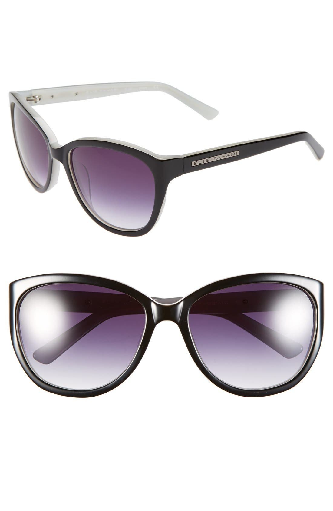 Main Image - Elie Tahari 58mm Cat Eye Sunglasses