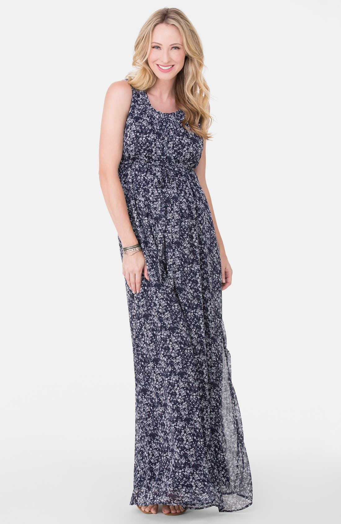 Alternate Image 1 Selected - Ingrid & Isabel® Floral Print Maternity Maxi Dress