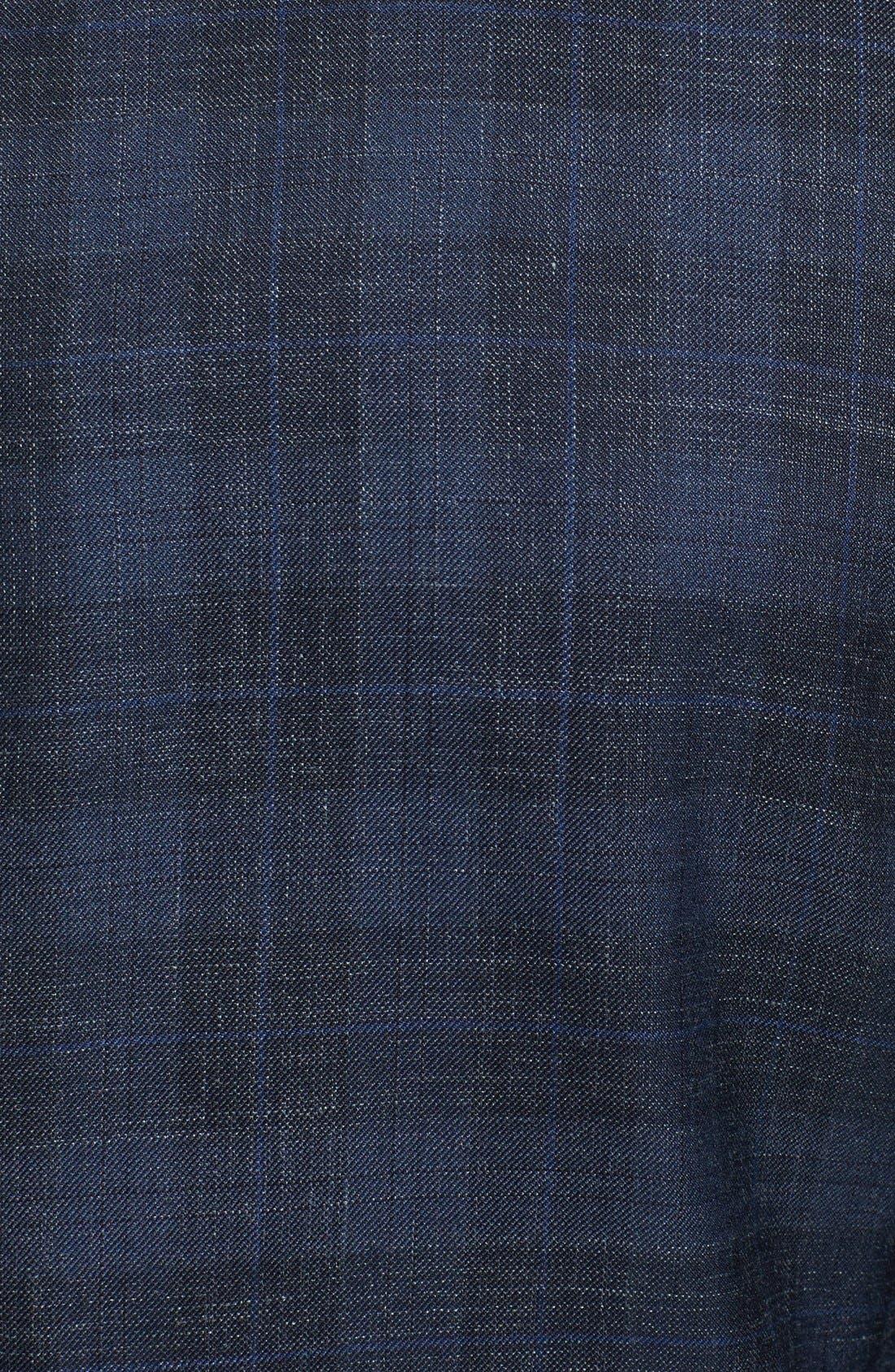 Alternate Image 3  - Salvatore Ferragamo Wool Blend Plaid Blazer