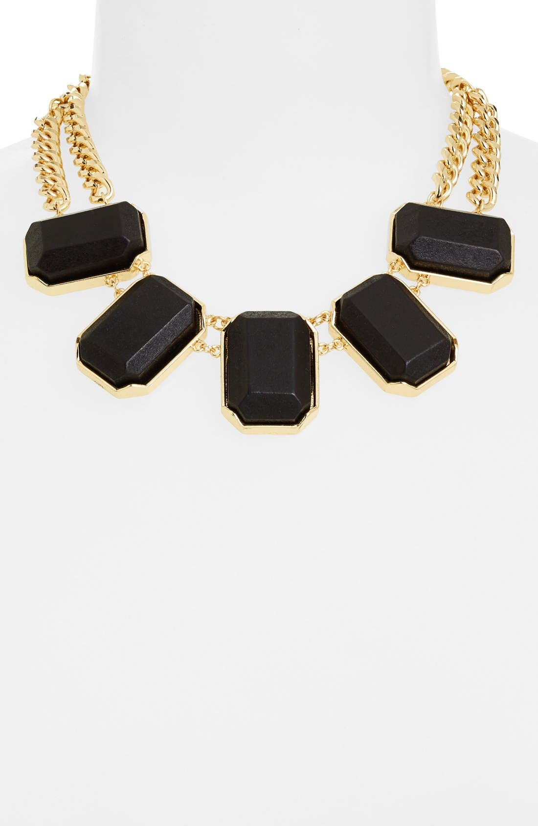 Alternate Image 2  - Nordstrom 'Safari' Wood Block Frontal Necklace