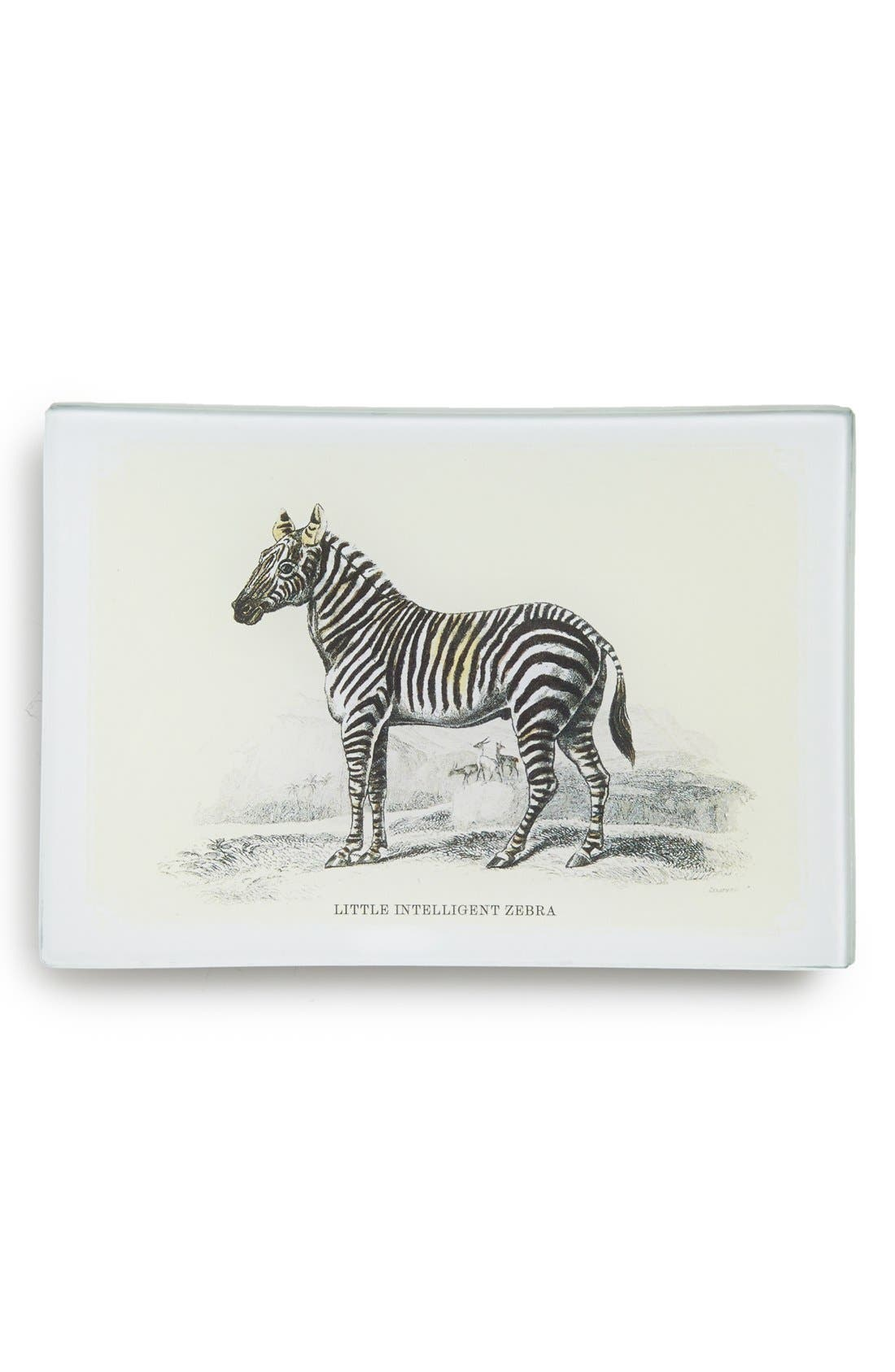 Alternate Image 1 Selected - Ben's Garden 'Little Intelligent Zebra' Decorative Glass Tray