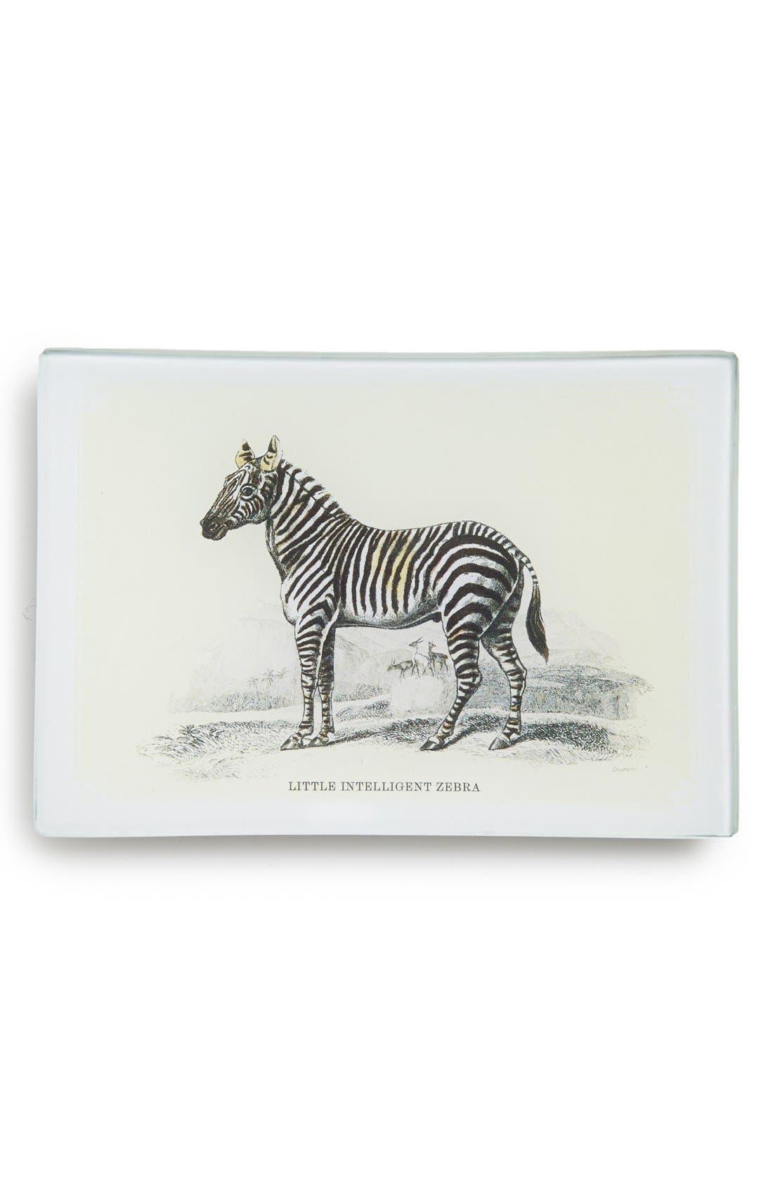 Main Image - Ben's Garden 'Little Intelligent Zebra' Decorative Glass Tray
