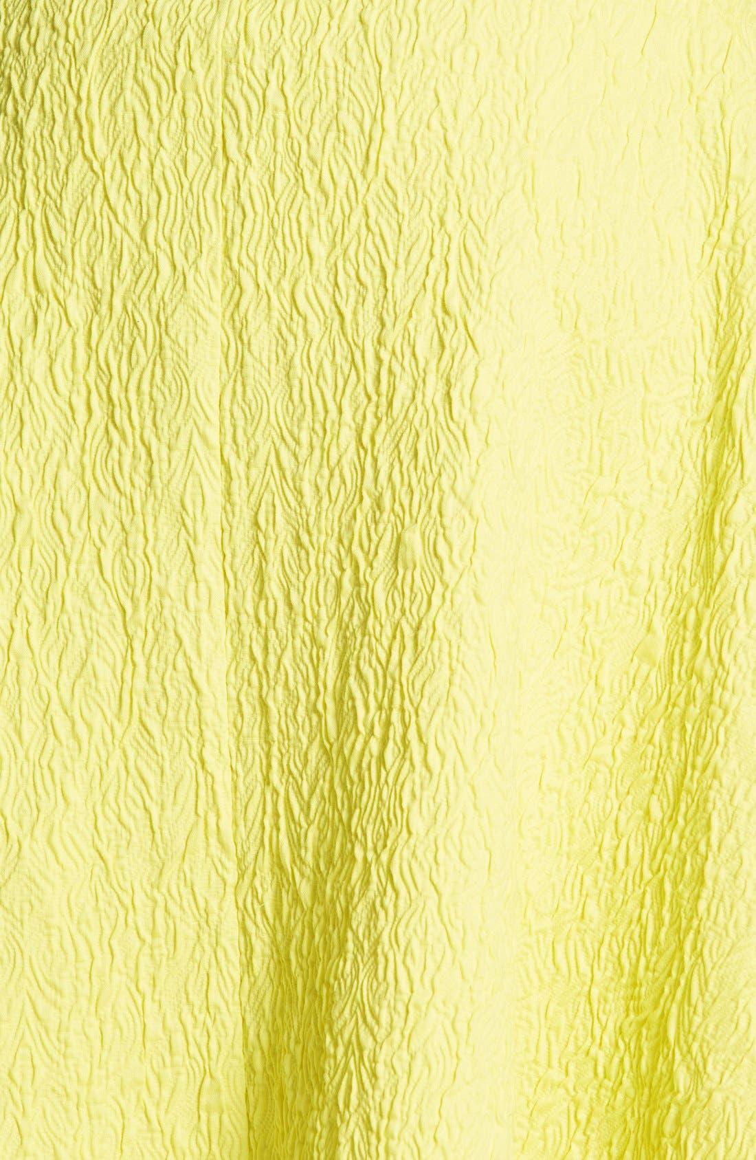 JOA Textured A-Line Midi Skirt,                             Alternate thumbnail 3, color,                             Lemon