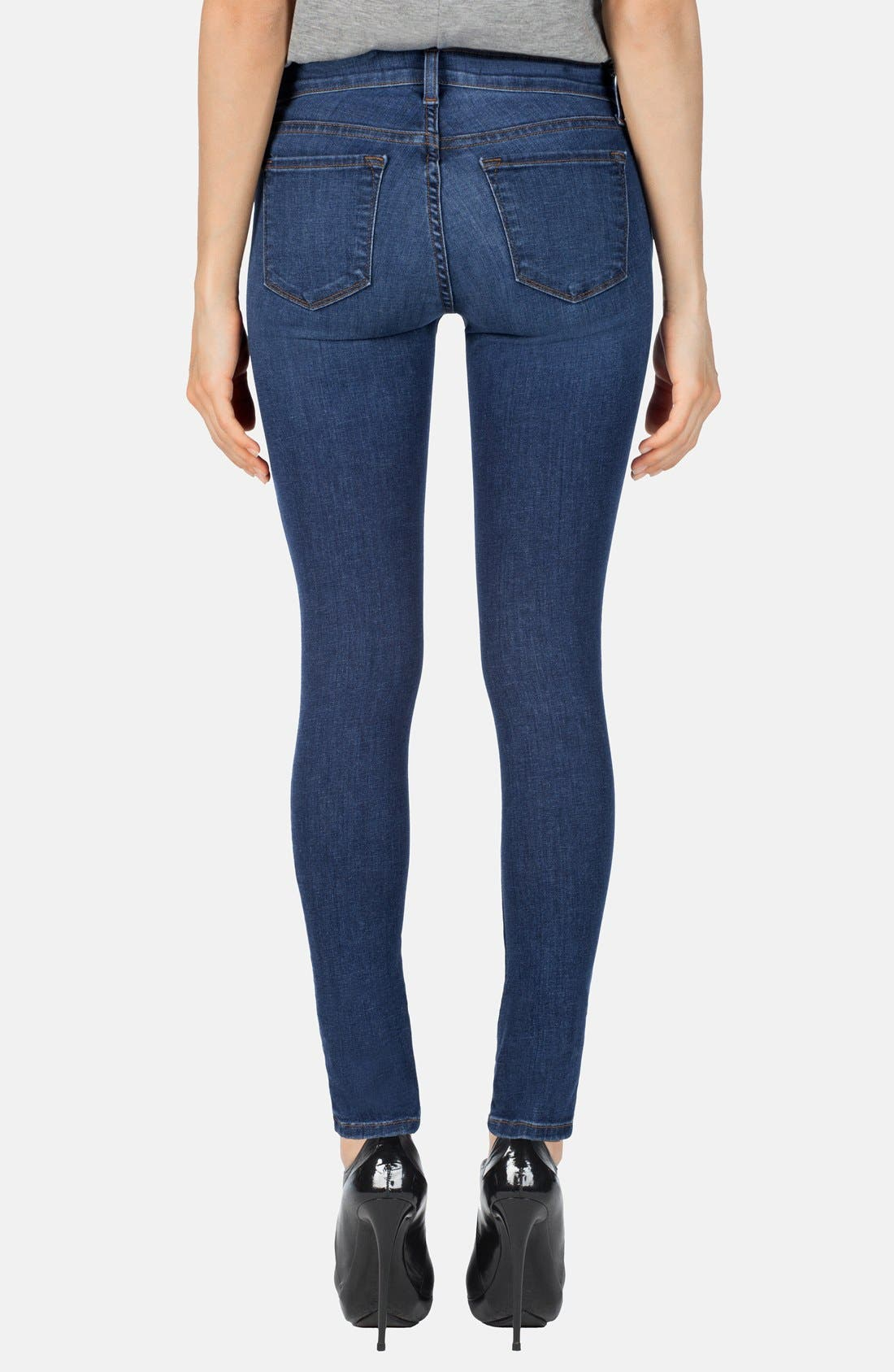 Alternate Image 2  - J Brand Mid Rise Skinny Jeans (Pacifica)