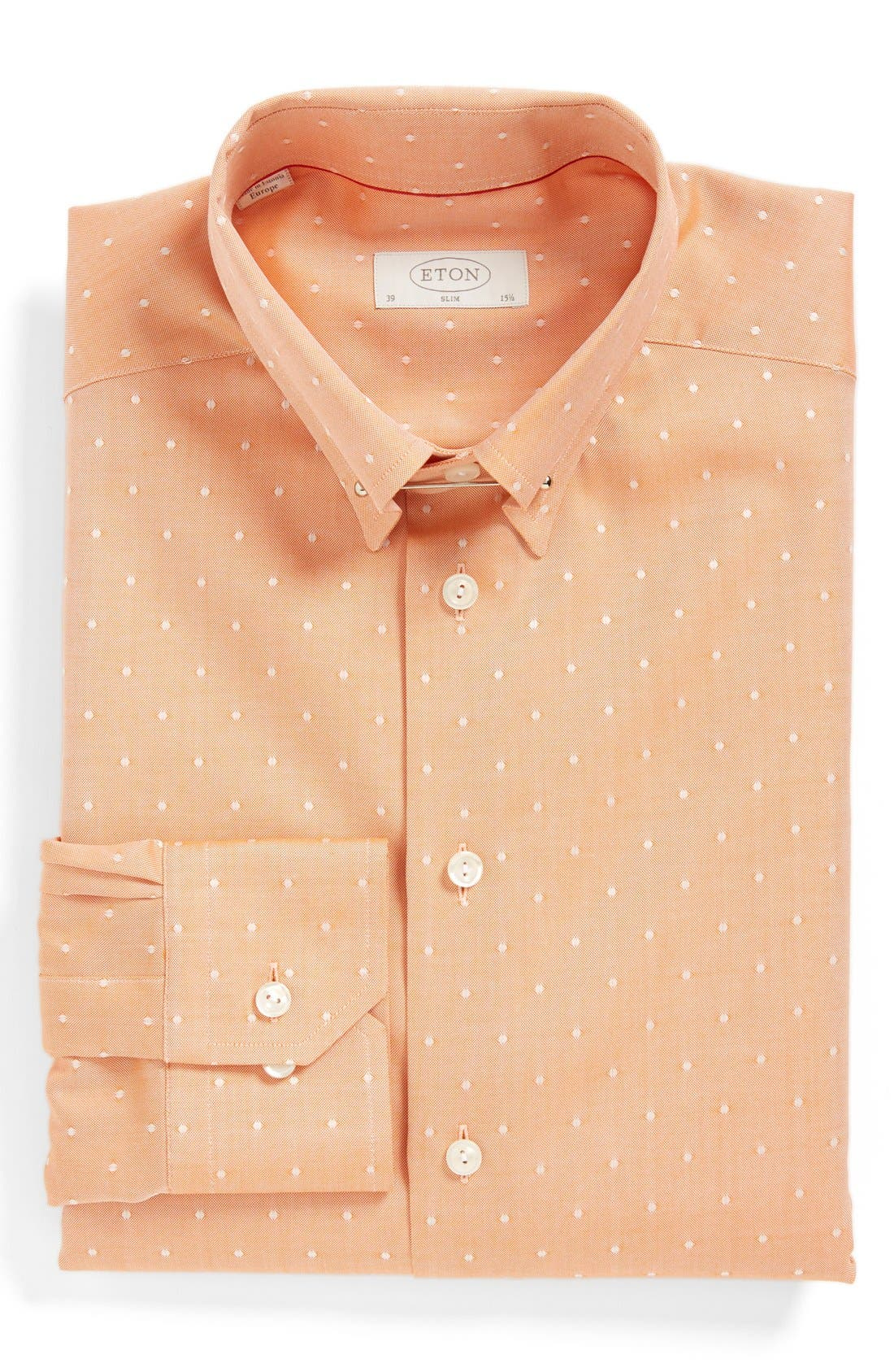 Alternate Image 1 Selected - Eton Slim Fit Dot Dress Shirt