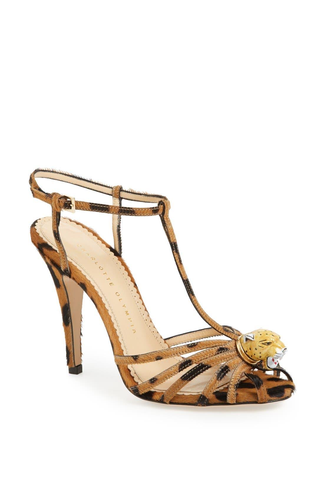 Main Image - Charlotte Olympia 'Clio' Calf Hair Sandal