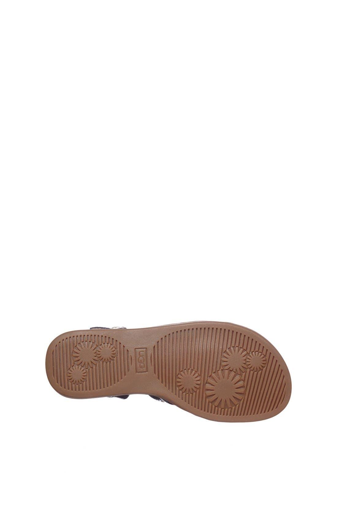 Alternate Image 4  - UGG® Australia 'Krystie' Studded Leather Sandal (Little Kid & Big Kid)