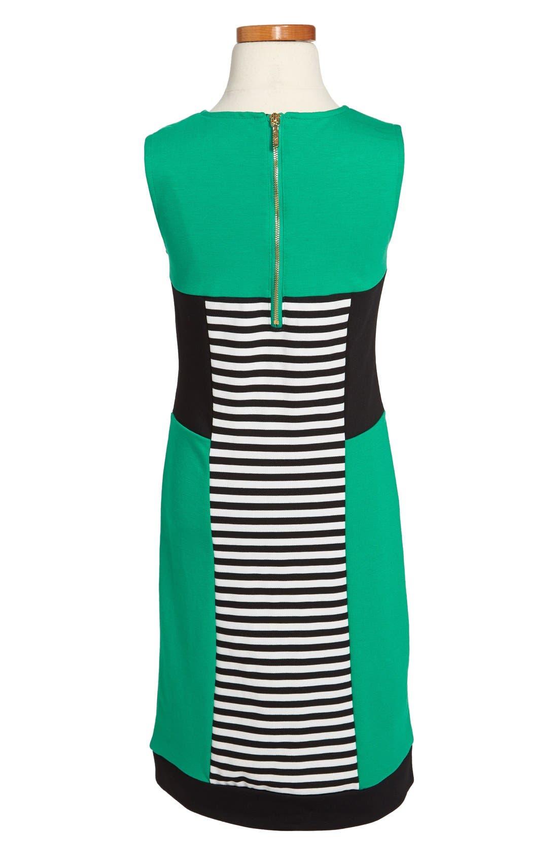 Alternate Image 2  - Nicole Miller Stripe Colorblock Dress (Big Girls)