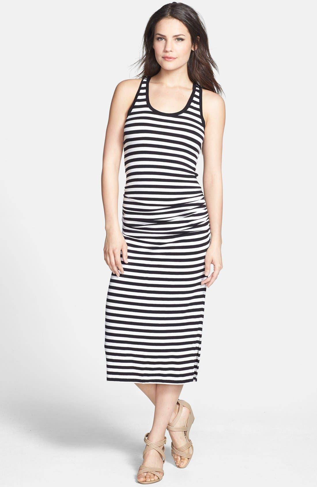 Main Image - Halogen® Racerback Stretch Knit Midi Dress