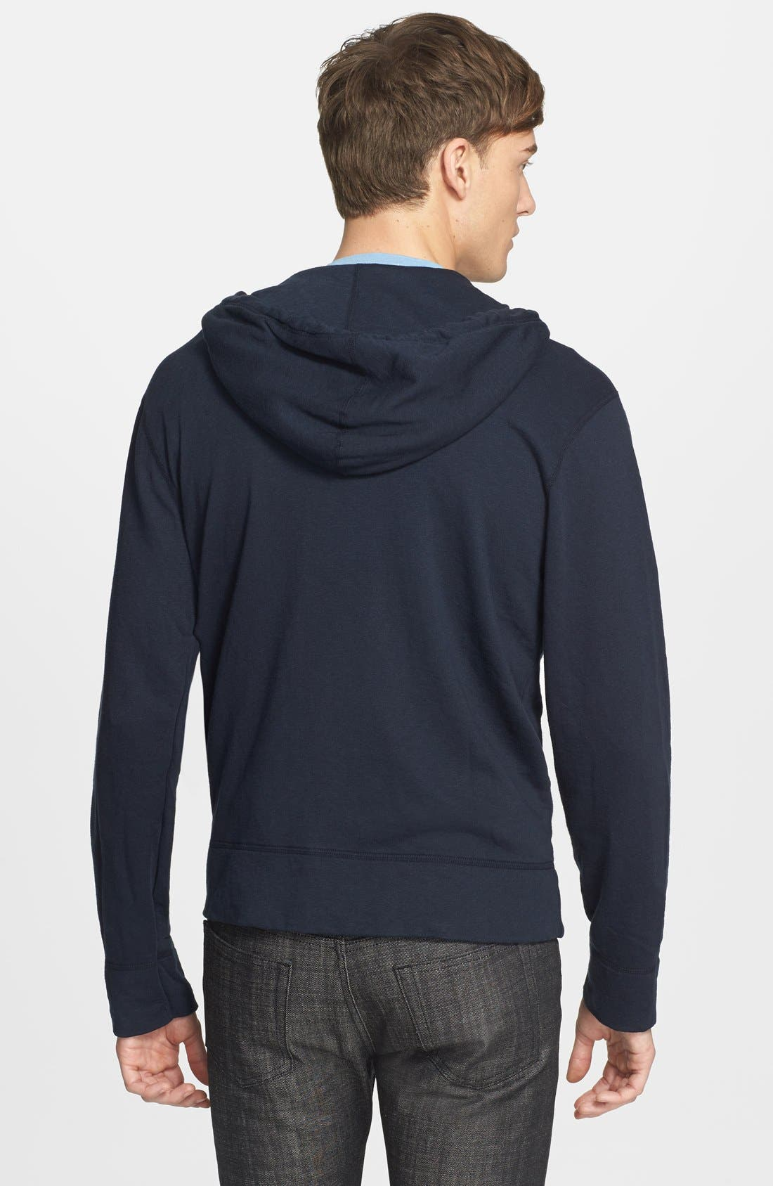 Alternate Image 2  - James Perse Classic Zip Hoodie
