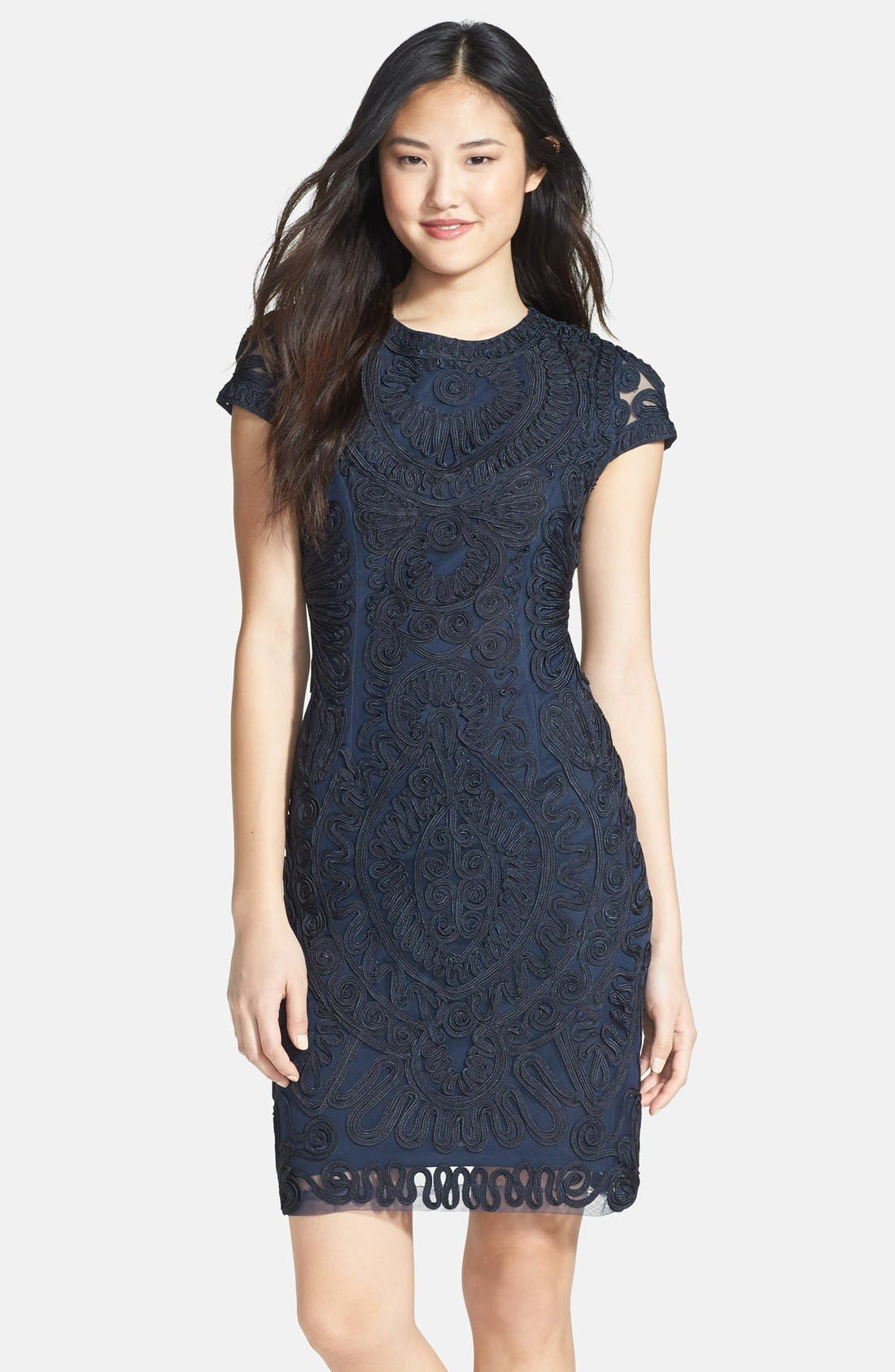 Main Image - JS Collections Soutache Dress (Regular & Petite)
