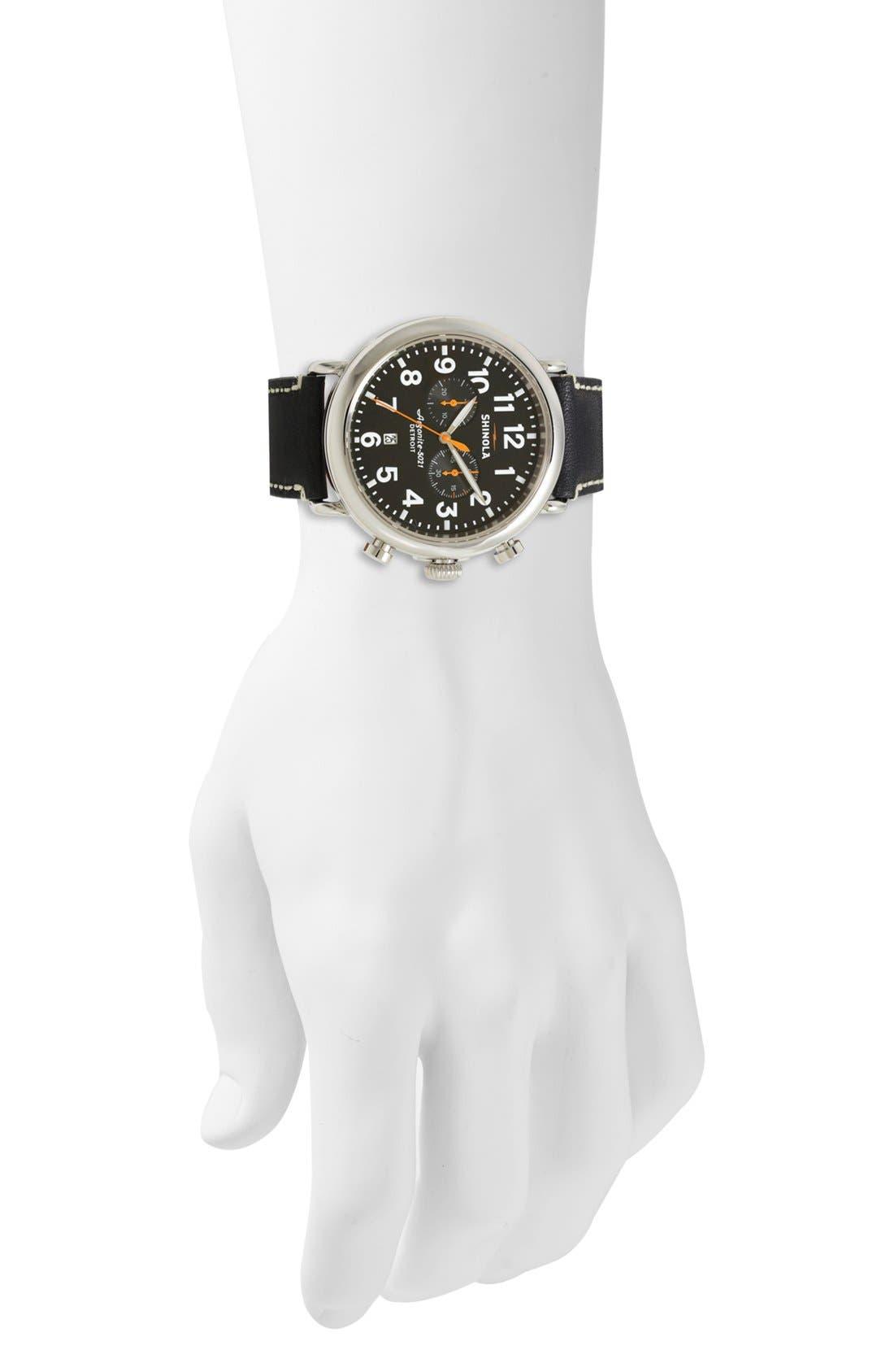 Alternate Image 4  - Shinola The Runwell Chrono Leather Strap Watch, 47mm