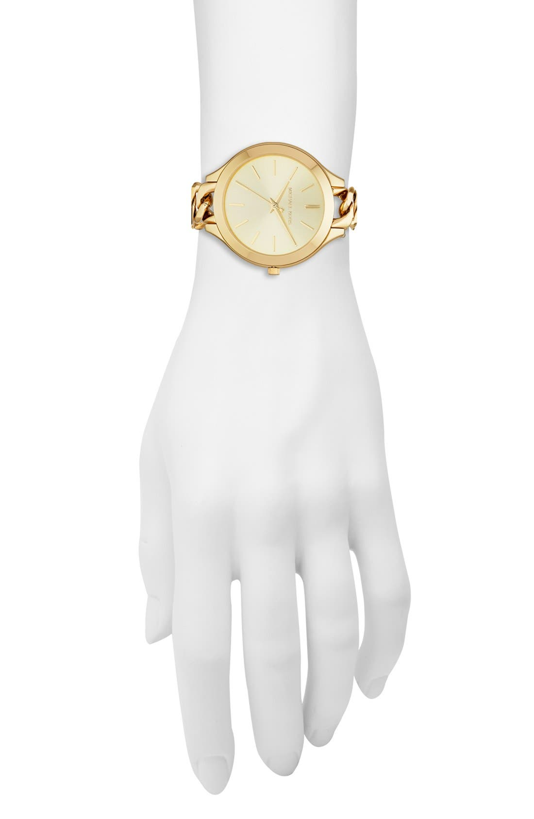 Alternate Image 4  - Michael Kors 'Slim Runway' Chain Bracelet Watch, 42mm