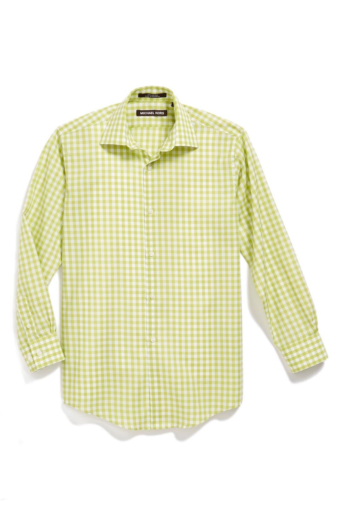 Alternate Image 1 Selected - Michael Kors Gingham Dress Shirt (Big Boys)