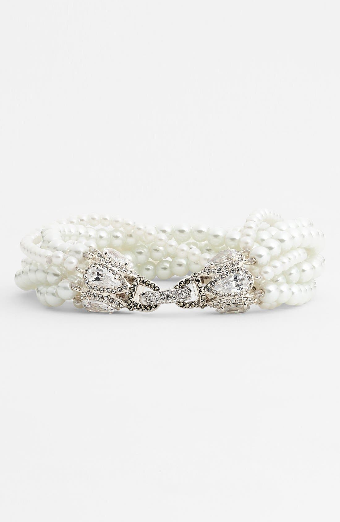Alternate Image 1 Selected - Judith Jack 'Pearl Romance' Faux Pearl Bracelet