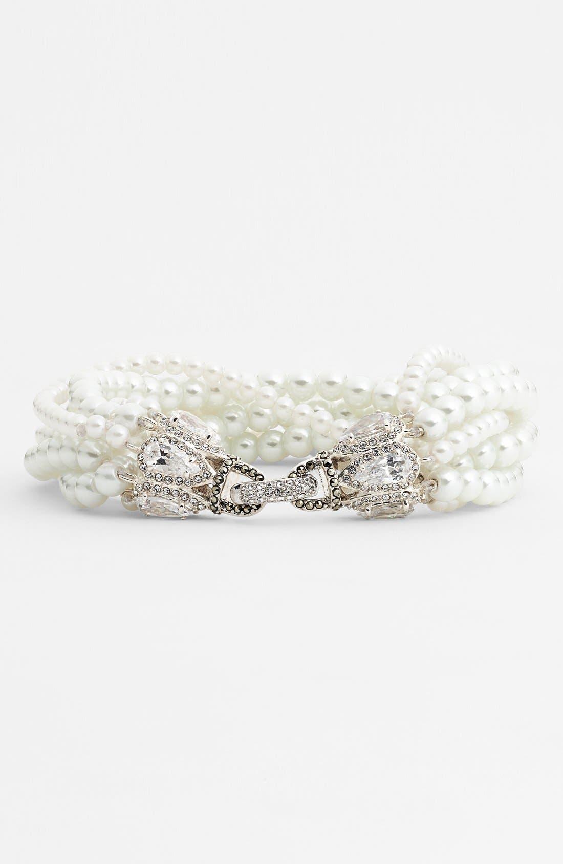 Main Image - Judith Jack 'Pearl Romance' Faux Pearl Bracelet