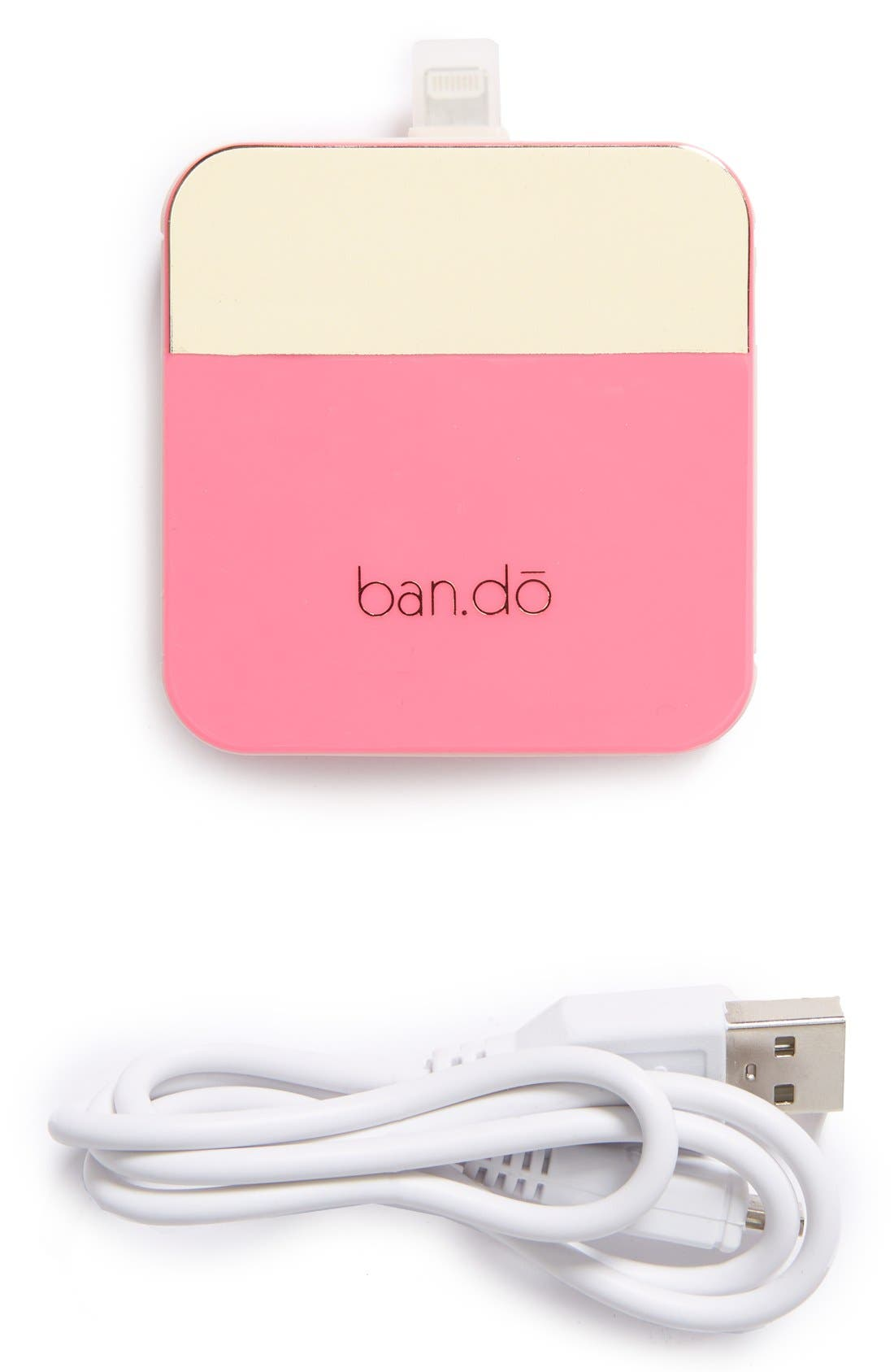 'Back Me Up' iPhone 5 Charger,                         Main,                         color, Pink/ Metallic Gold
