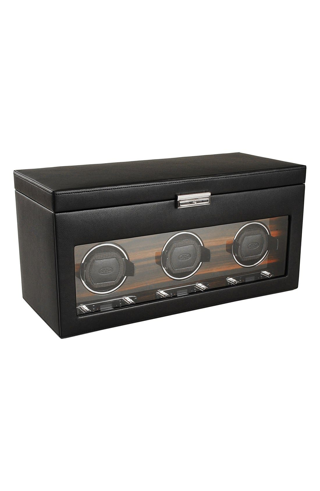 Roadster Triple Watch Winder & Case,                         Main,                         color, Black