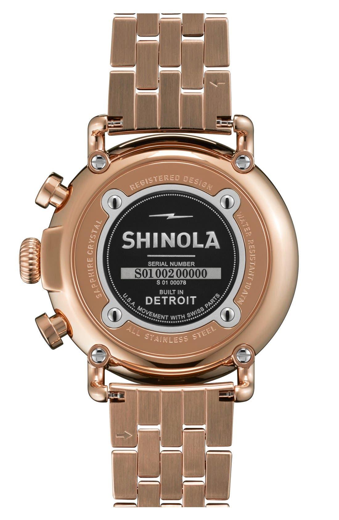 Alternate Image 2  - Shinola 'The Runwell Contrast Chrono' Bracelet Watch, 41mm