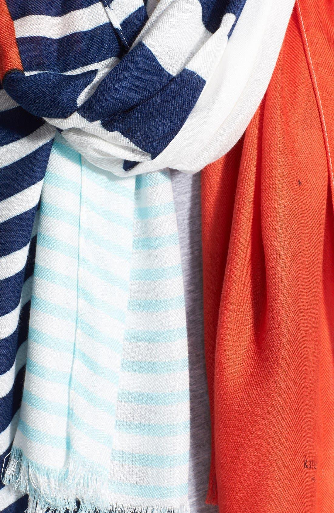 Alternate Image 3  - kate spade new york 'monaco stripe' scarf