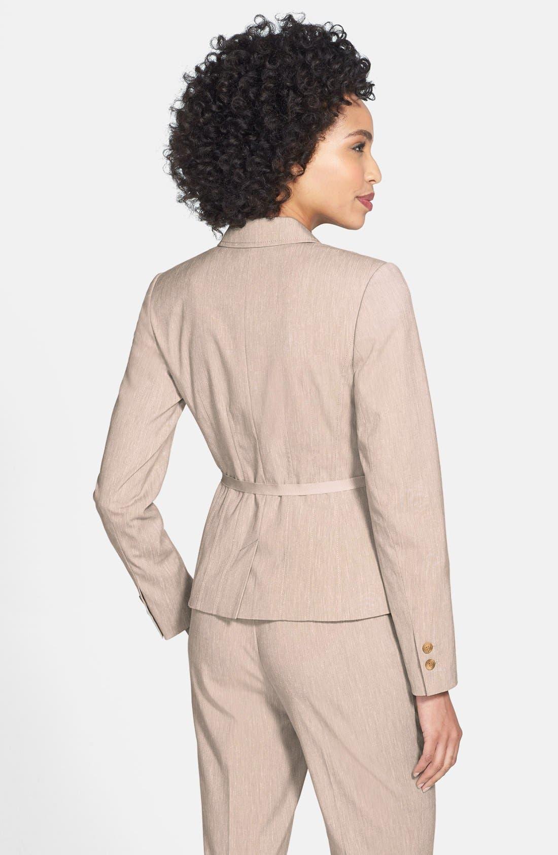 Alternate Image 3  - Halogen® Belted Cross Weave Jacket