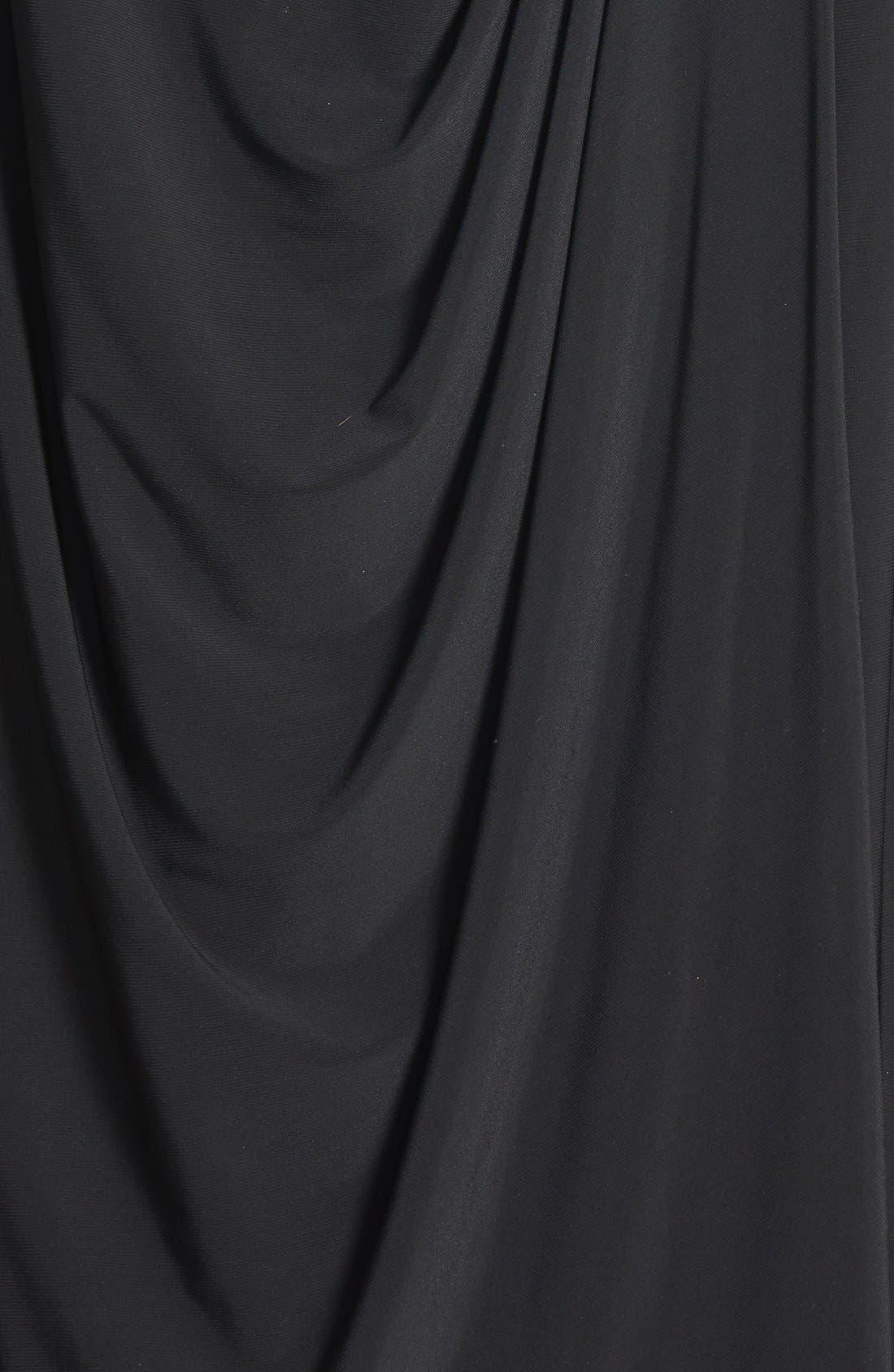 Alternate Image 3  - Alex Evenings Embellished Portrait Collar Cocktail Dress (Plus Size)