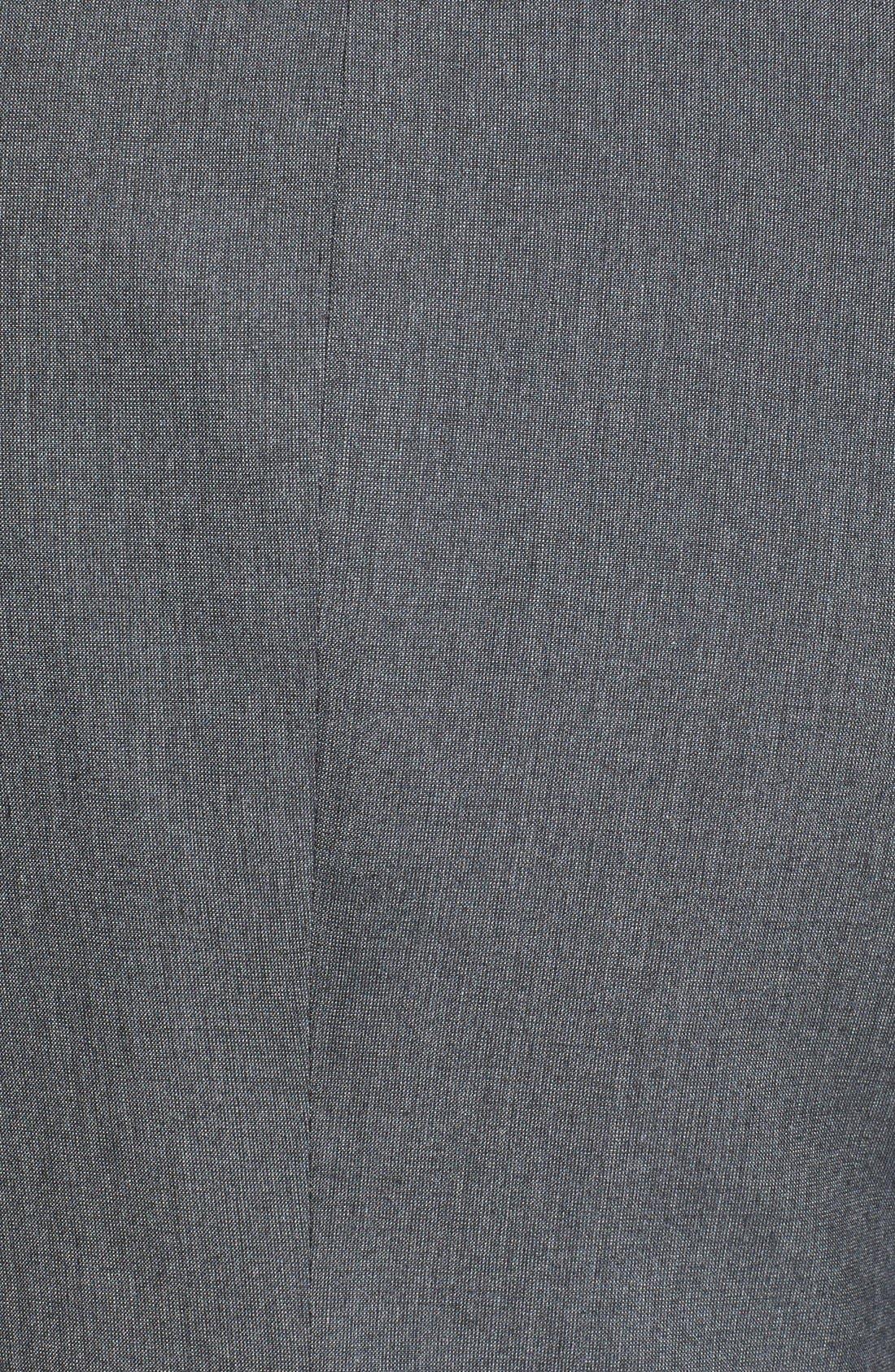 Alternate Image 3  - Topman Skinny Fit Satin Trim Grey Suit Jacket