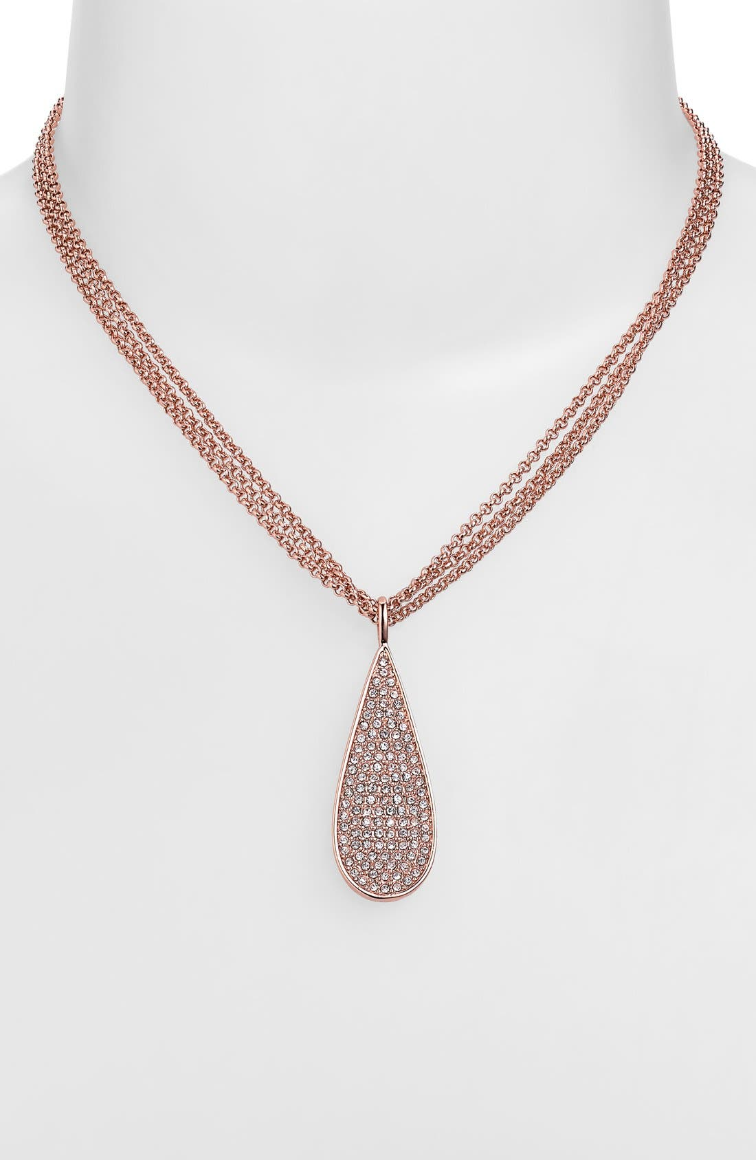 Alternate Image 2  - Lauren Ralph Lauren Pavé Teardrop Pendant Necklace