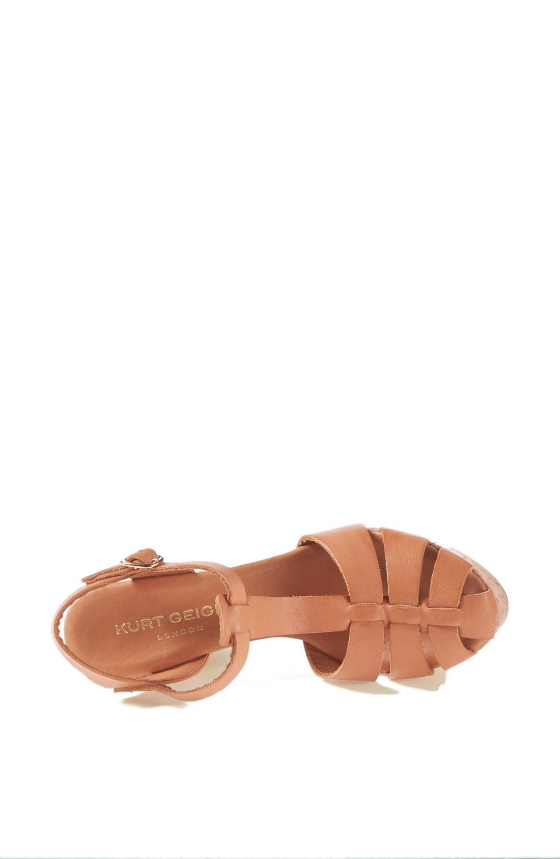 Alternate Image 3  - Kurt Geiger London 'Lotus' Platform Leather Sandal