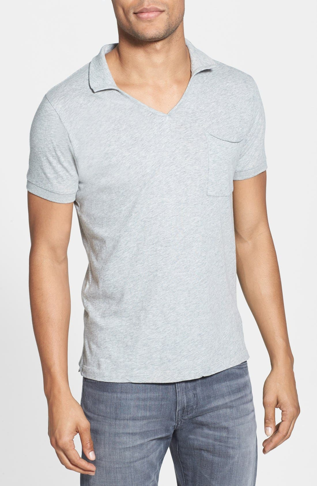 Alternate Image 1 Selected - French Connection 'Lunar' Slim Fit V-Neck Jersey Polo Shirt