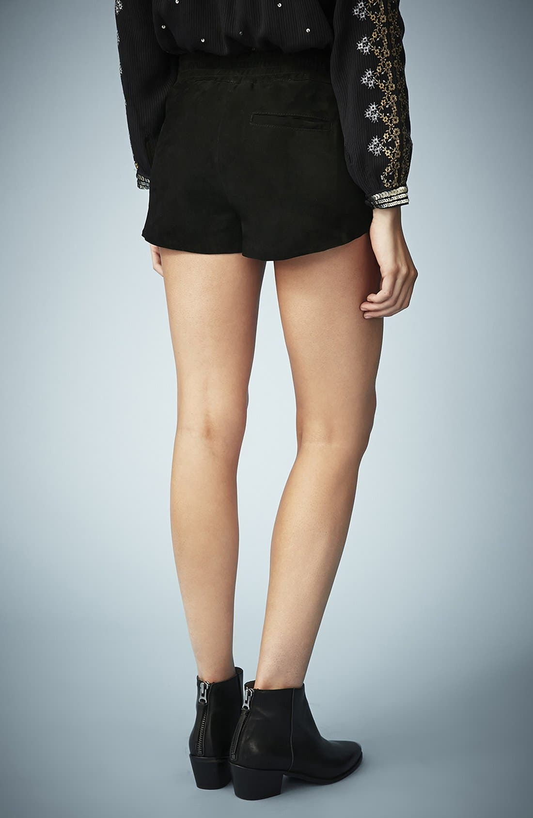 Alternate Image 2  - Kate Moss for Topshop Suede Runner Shorts (Online Only)