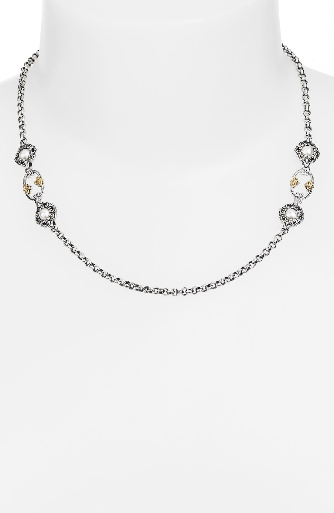 'Selene' Station Necklace,                             Main thumbnail 1, color,                             Silver/ Gold