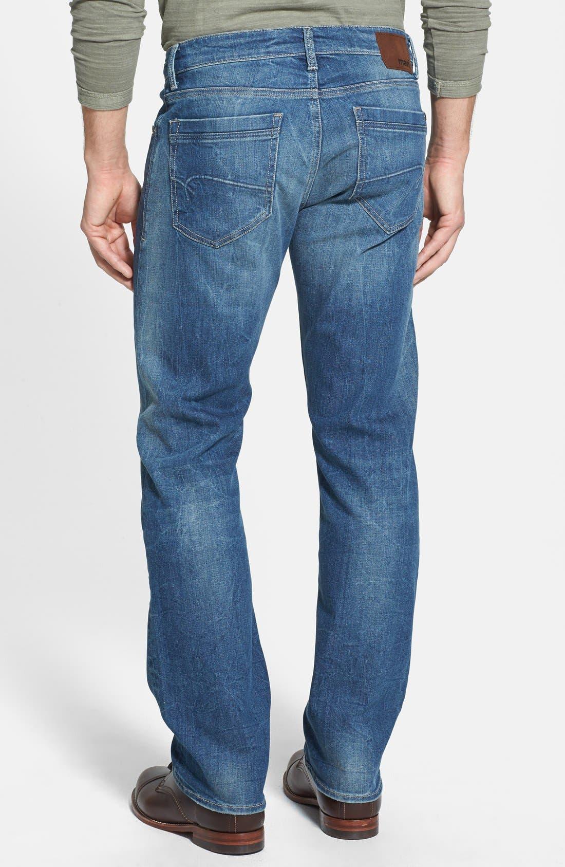 Alternate Image 2  - Mavi Jeans 'Zach' Straight Leg Jeans (Light Used Yaletown)