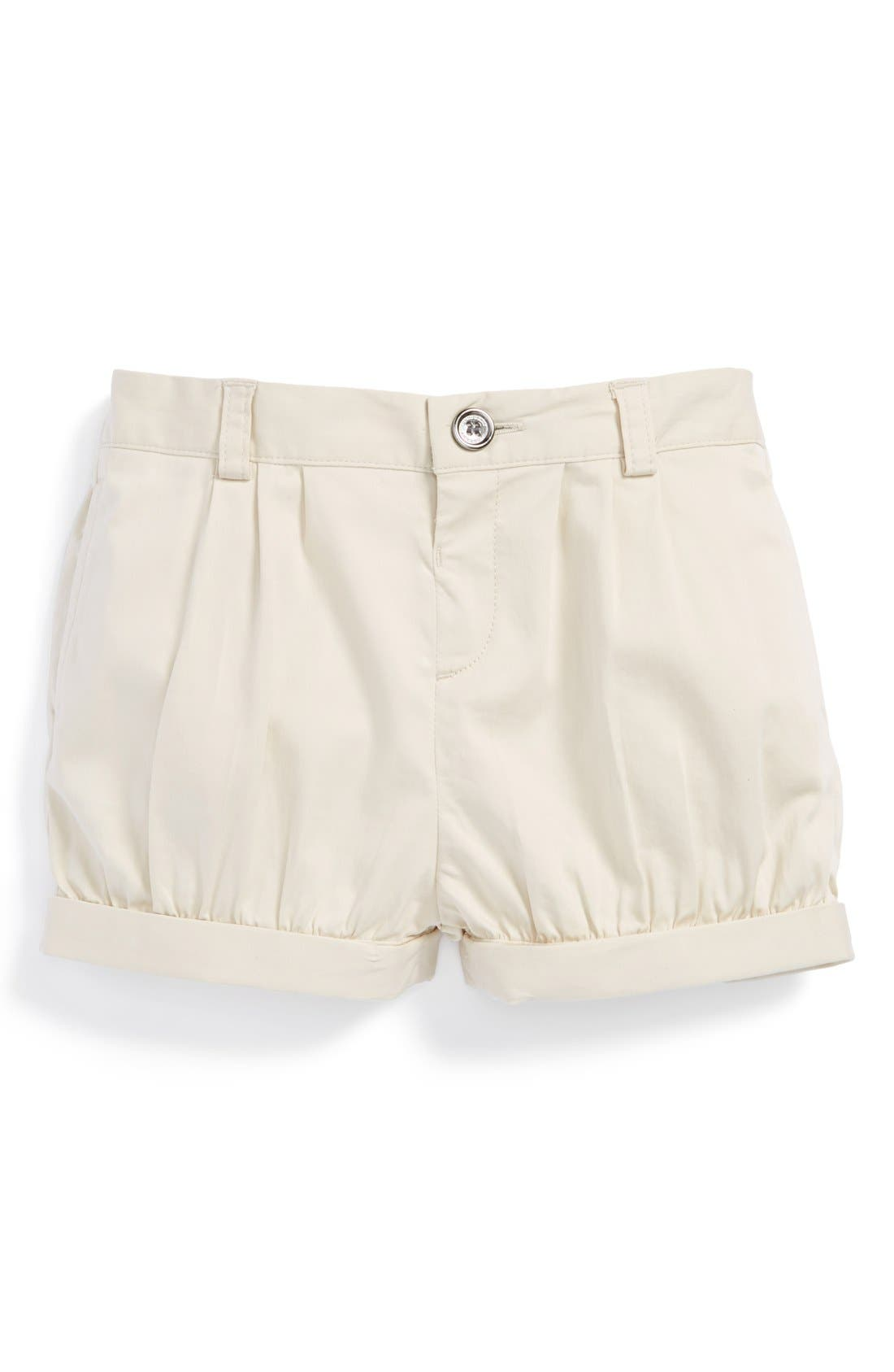 Main Image - Burberry 'Shauna' Roll Cuff Shorts (Baby Girls)